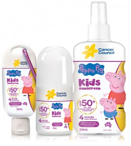 Peppa Pig 50+: sunscreen they'll keep still for